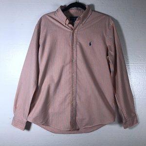 Ralph Lauren Size Large Striped Button Down Shirt